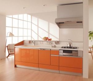 手塗りグレードの深みのある色合いのキッチン