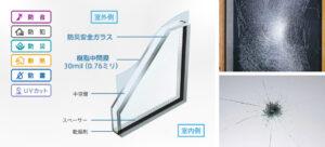 防犯合わせガラス複層ガラス